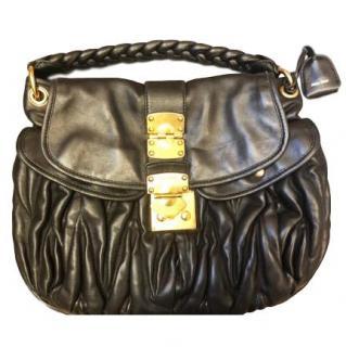Mui Mui Black Matelasse Bag