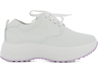 Celine White Delivery Leather Sneakers