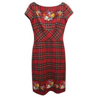 Moschino Cheap & Chic Tartan Dress