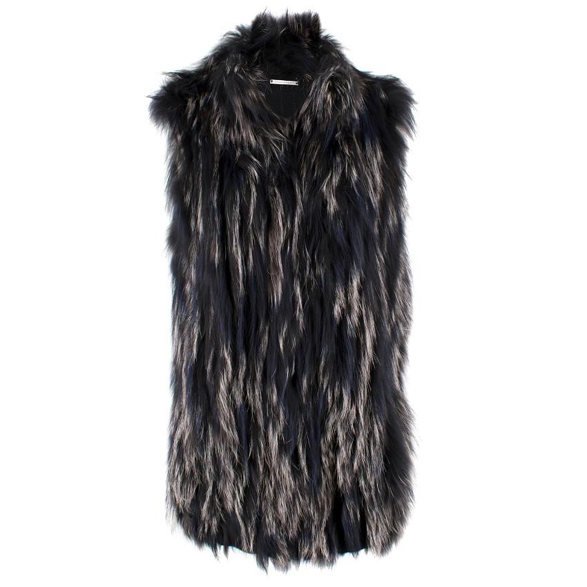 c0233123a6ec Diane Von Furstenberg Silver Fox Fur Gilet