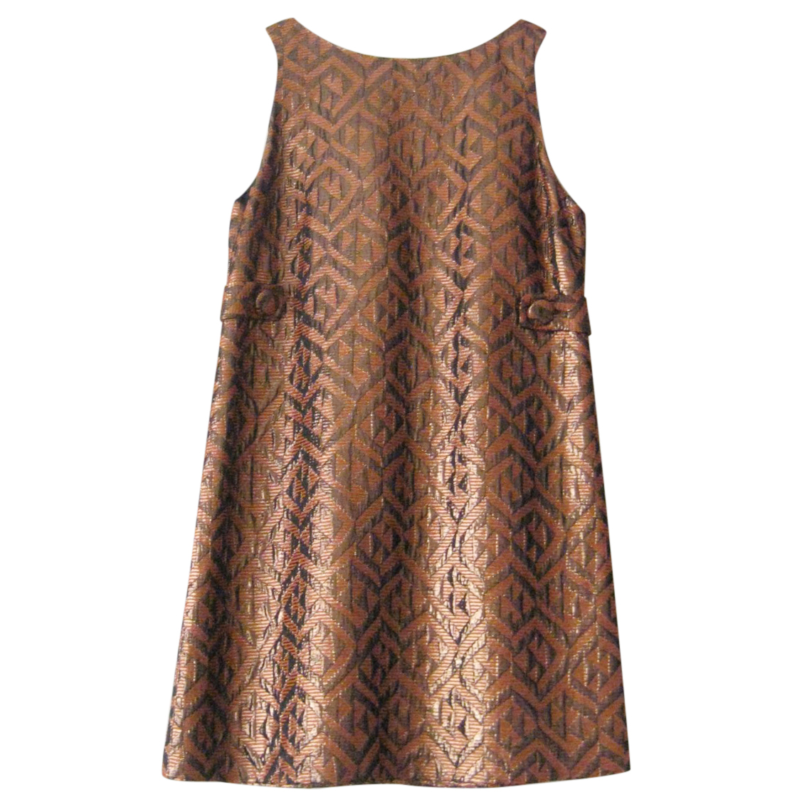 Tibi Metallic A-line Mini Dress