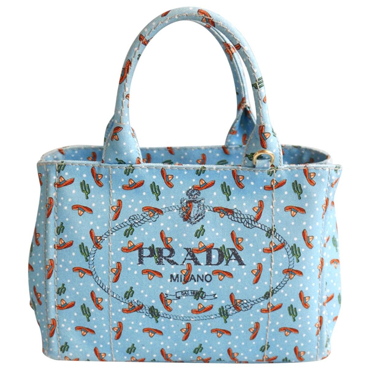 c2076e44084d Prada Ltd Ed Sombrero Print Giardiniera Tote Bag