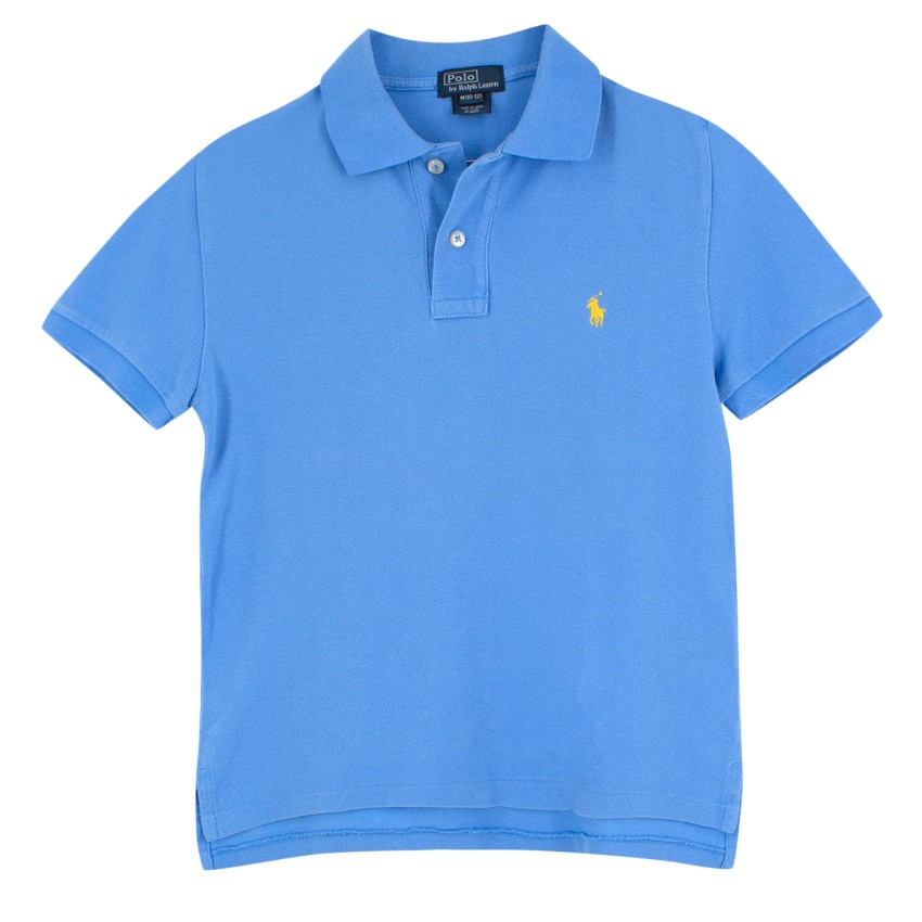 Boy's Blue Polo Ralph Lauren Shirt Y7Ib6fgyvm