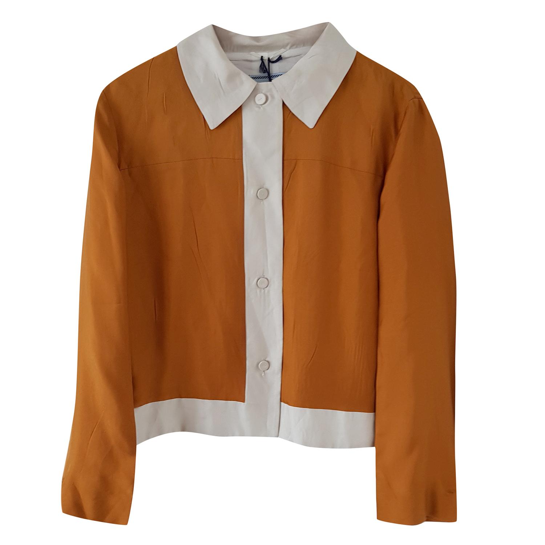 bdf2a9a5d Prada Yellow Silk Bolero Jacket 14