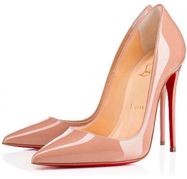 5636f565e2d Christian Louboutin So Kate 120 Nude Patent shoes