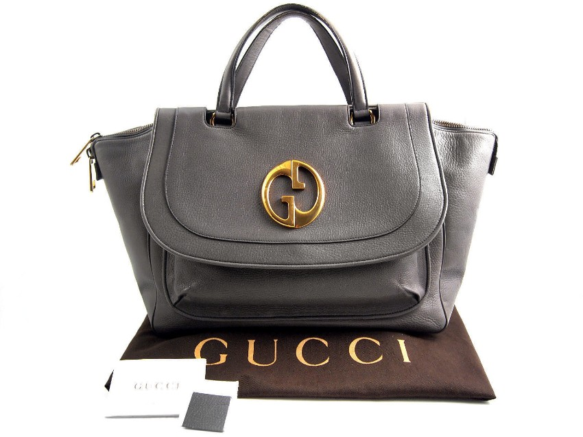 Gucci Grey 1973 Tote Bag