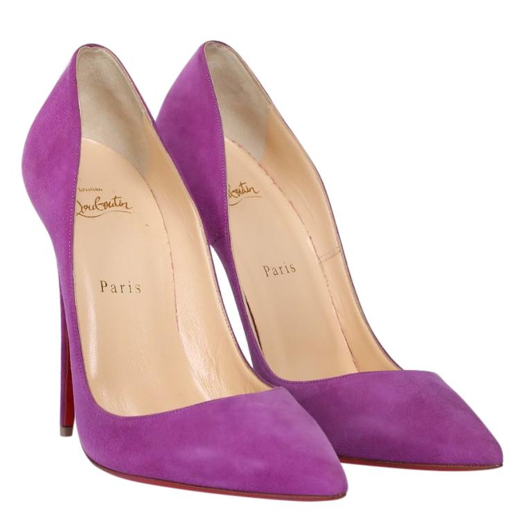 4f50b1e34c3b Christian Louboutin Purple Suede So Kate 120 Pumps