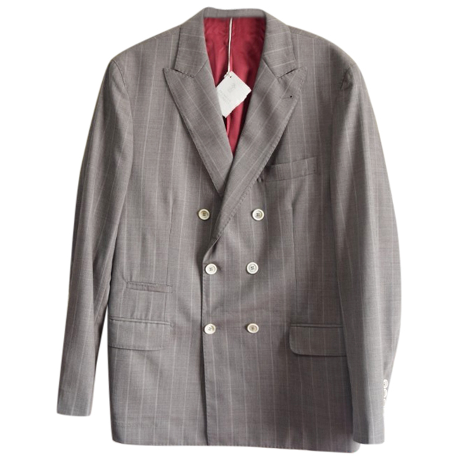 Brunello Cucinelli Men's Double Breasted Wool Jacket