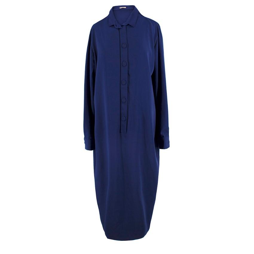 Bottega Veneta Navy Oversize Shirt Dress