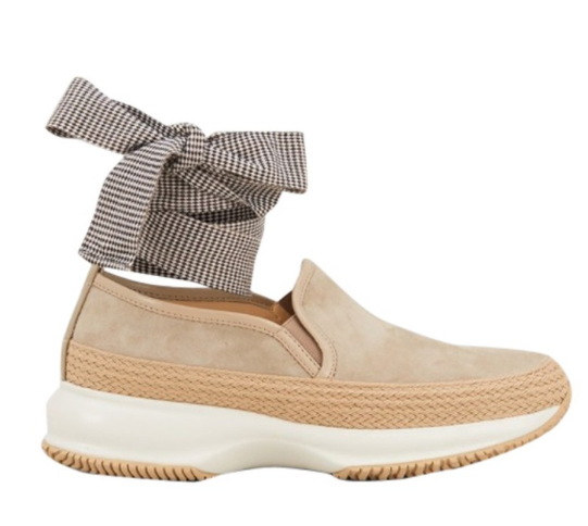 Hogan interactive ribbon tie trainers