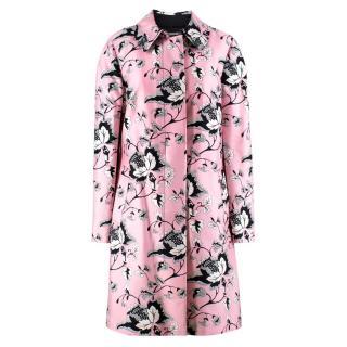 Diane von Furstenberg Amanda printed wool & silk blend coat