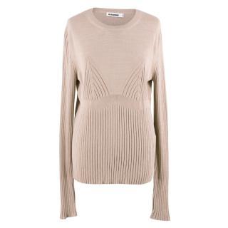 Jil Sander Ribbed-knit sweater