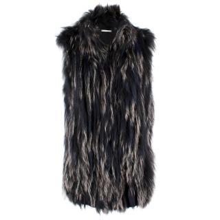 Diane Von Furstenberg Silver Fox Fur Gilet