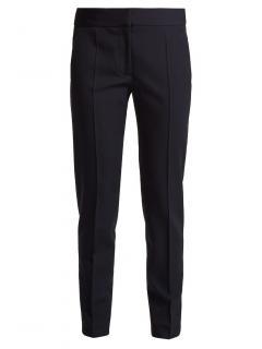 Stella McCartney Tailored Zip Hem Navy Wool Trousers - Current Season