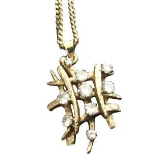 Bespoke Diamond and gold pendant