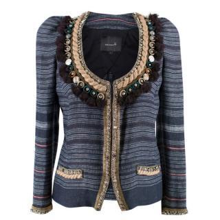 Isabel Marant Flana Jeweled Linen Jacket