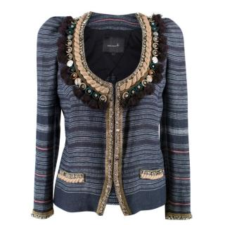 Isabel Marant Flana Jeweled Linen Jacket