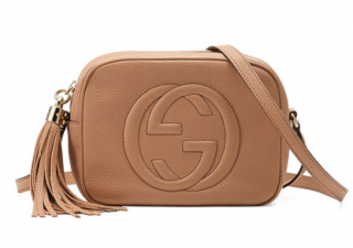 Gucci Soho Small Tan Disco Bag