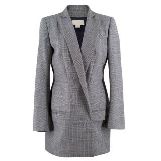 Antonio Berardi wool houndstooth long blazer
