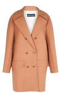 Sonia Rykiel Camel Double Serge Wool Coat