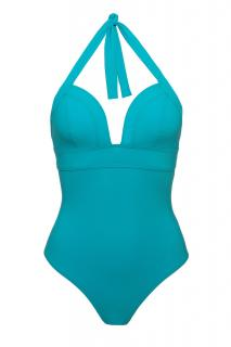 Carizzi Turquoise One-Piece Halterneck Swimsuit