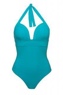 Carizzi Turquoise One-Piece Halterneck Swimsuit