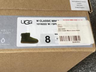 Ugg classic mini ii green boots
