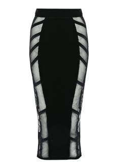 Agent Provocateur Ivana Black Velvet Skirt