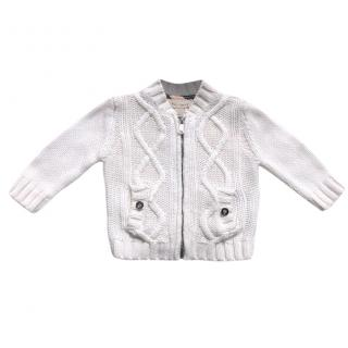 Burberry cotton cashmere baby cardigan