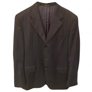 Lanvin Navy Blue Pinstripe Jacket