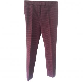 Joseph patterned burgundy trousers