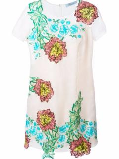 Blumarine  embroidered  floral dress