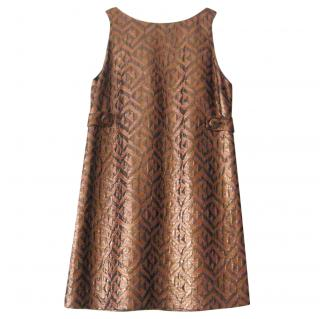 Tibi Metallic A-line Mini Dress