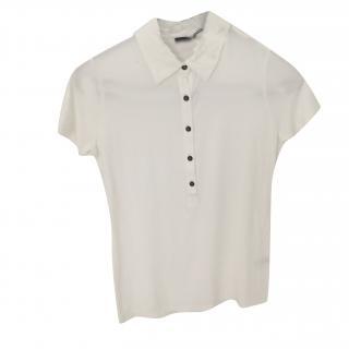 Joseph white short sleeve polo shirt