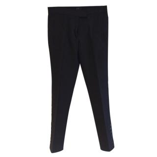 Joseph black trousers with button detail