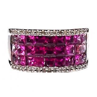 BespPink Sapphire & Diamond Ring White Gold