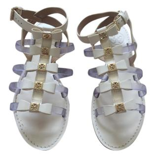 Tory Burch Leather Bow Sandals