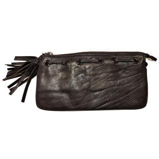Anya Hindmarch black soft leather purse