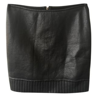 Muubaa Leather Mini Skirt