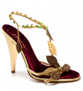 Roberto Cavalli Gold Embellished Sandals