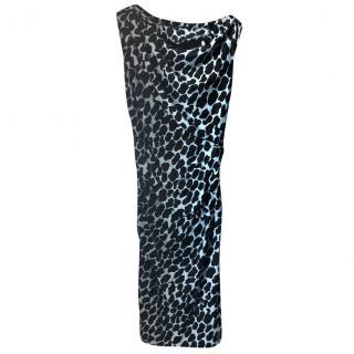Diane Von Furstenberg printed ruched dress