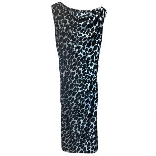 Diane Von Furstenberg printed ruched dress