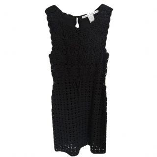 Diane von Furstenberg Crochet Knit mini dress