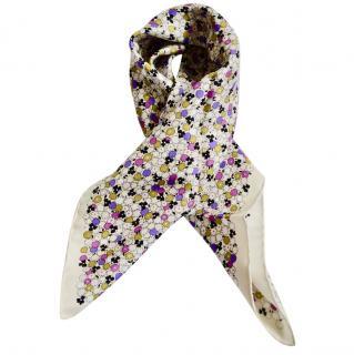 Bottega Veneta floral print silk scarf