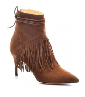 Bionda Castana Suede Fringed Ankle Boots