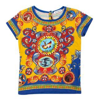 Dolce & Gabbana Girl's Printed T Shirt