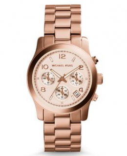 Michael Michael Kors Rose Gold Chronograph Watch