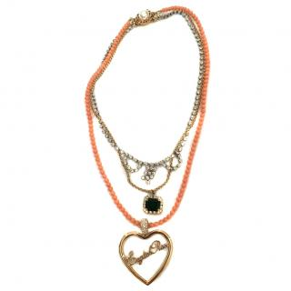 Mawi 'English Rose' Tiered Necklace