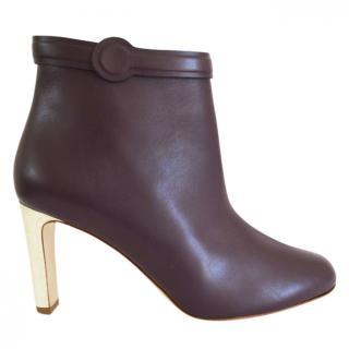 Rupoert Sanderson Lavino Purple Leather Ankle Boots