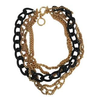 Kenneth Jay Lane Multi-layered Chain Necklace